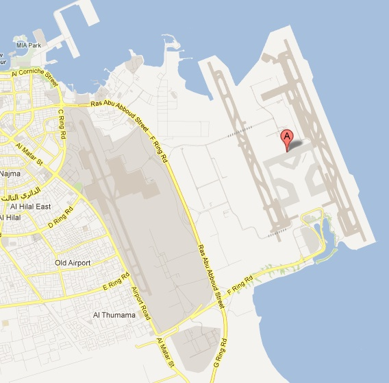 Hamad International Airport Map (Google Maps)