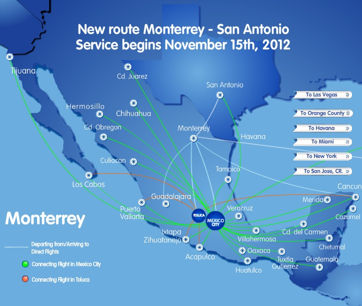 Interjet Launches Twice Weekly Monterrey Las Vegas Service