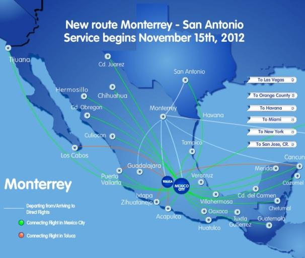 Interjet Launches Twice Weekly Monterrey Las Vegas Service