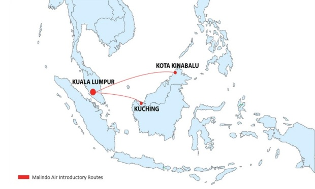 Malindo Air 3:2013 Route Map