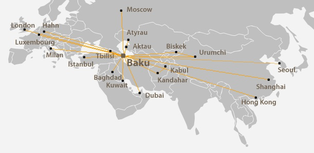 Silk Way 3:2013 Route Map