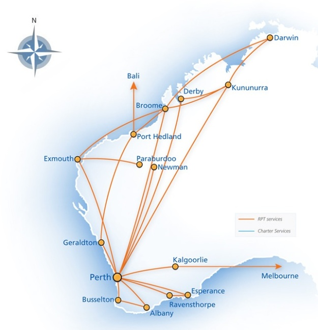 Skywest (Australia) 3:2013 Route Map