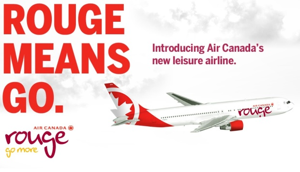 Air Canada rouge ad