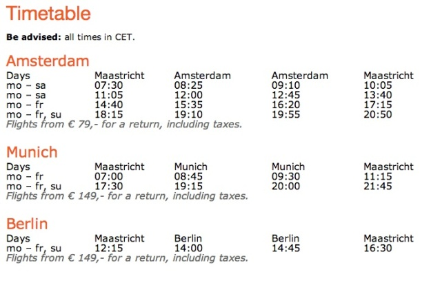 Maastricht 4:2013 Timetable