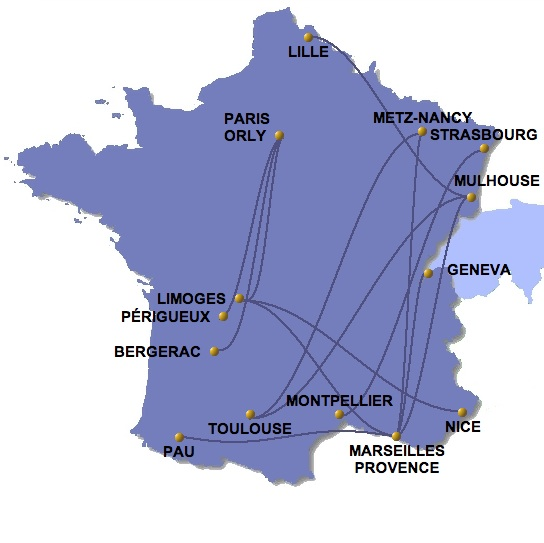 Twin Jet 4:2013 Route Map