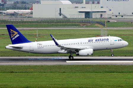 Air Astana A320-200 WL F-WWIC (P4-KBB)(02)(Ldg) TLS (YD)(LRW)