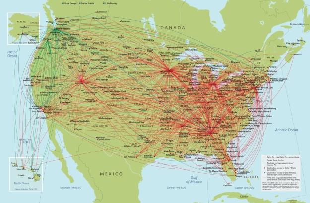 Delta 5:2013 North America Route Map