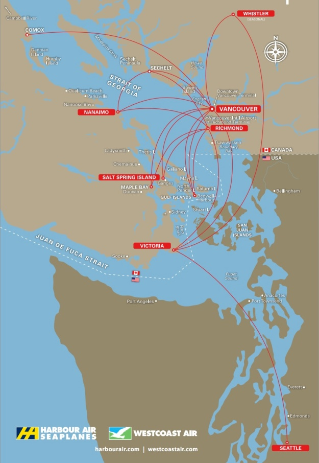 Harbour Air-Westcoast Air 5:2013 Route Map