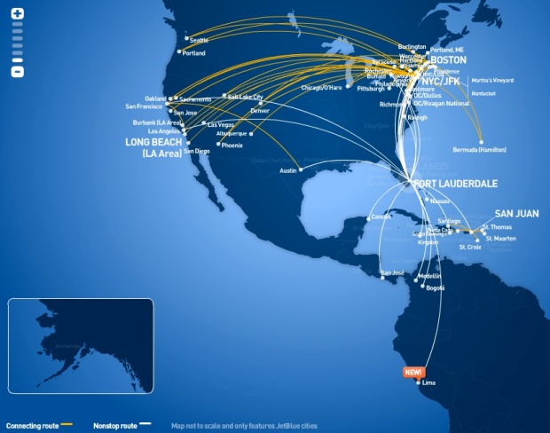 JetBlue FLL 5:2013 Route Map