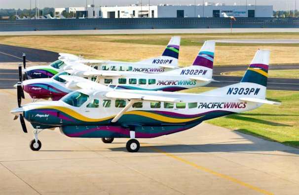 Pacific Wings Cessna 208B Grand Caravan fleet (Pacific Wings)(LR)