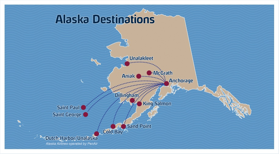A few penair flights are cancelled due to volcanic activity in penair 52013 alaska route map gumiabroncs Image collections