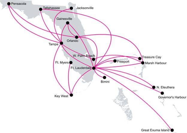 Silver 5:2013 Florida-Bahamas Route Map
