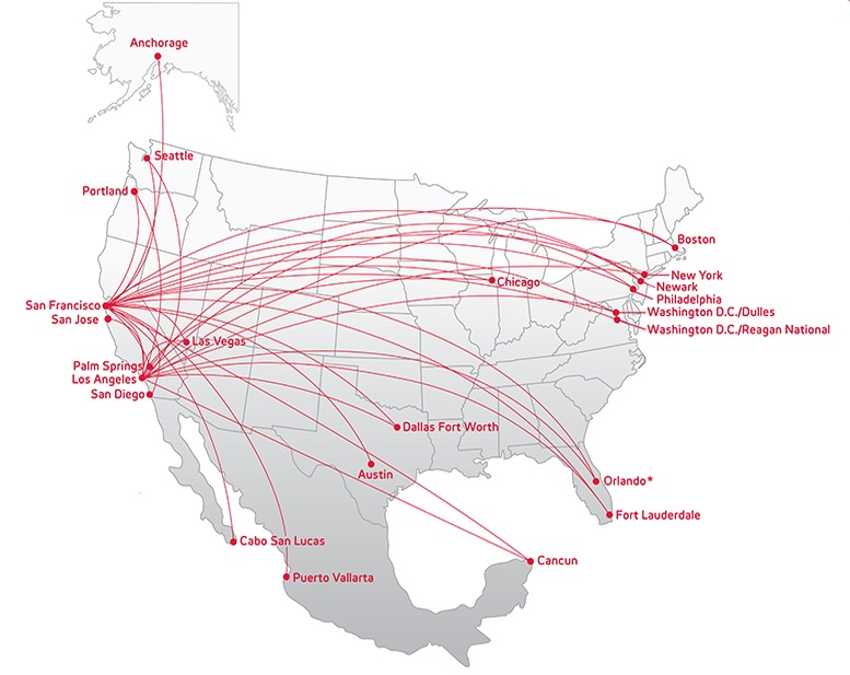 virgin america 52013 route map