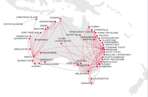 Virgin Australia Domestic 5:2013 Route Map