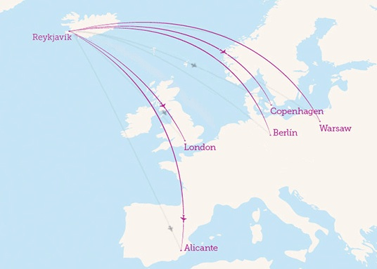 Wow Air 5:2013 Route Map