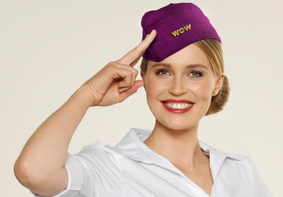 Wow Air FA Saluting (Wow Air)(LR)
