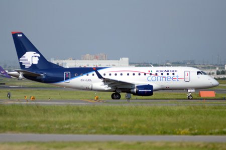 AeroMexico connect ERJ 170-100 OH-LEL (XA-SAC)(06)(Grd) YYZ (TMK)(LRW)