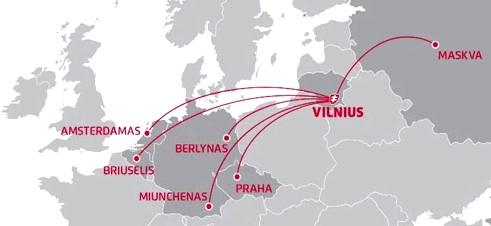 Air Lituanica 6:2013 Route Map
