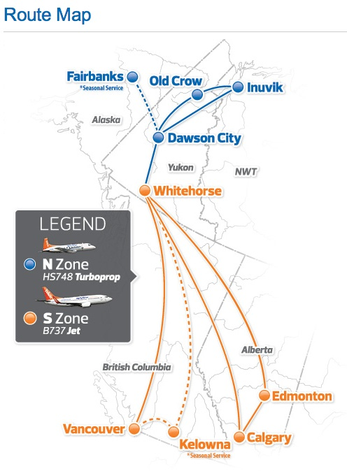 Air North 6:2013 Route Map
