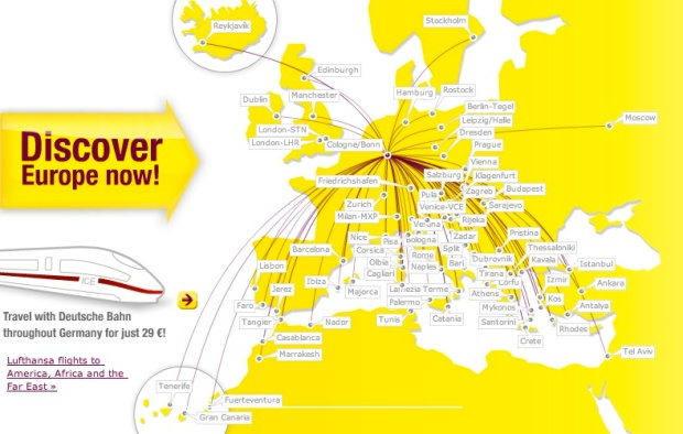Germanwings CGN 6:2013 Route Map