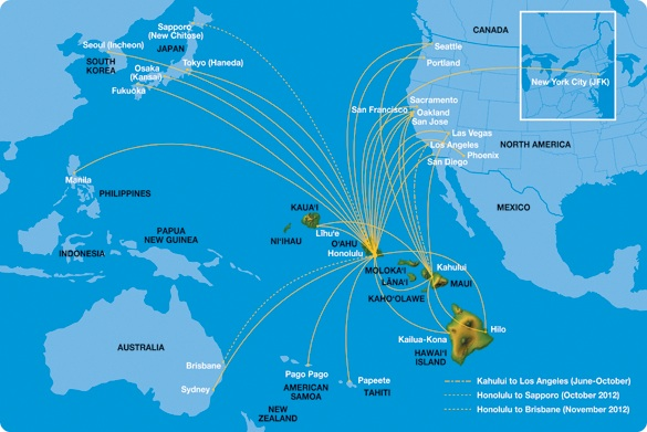 Hawaiian starts nonstop service to sendai japan world airline news hawaiian 62013 route map gumiabroncs Gallery