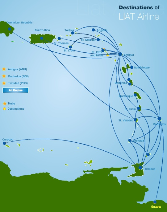 LIAT 6:2013 Route Map