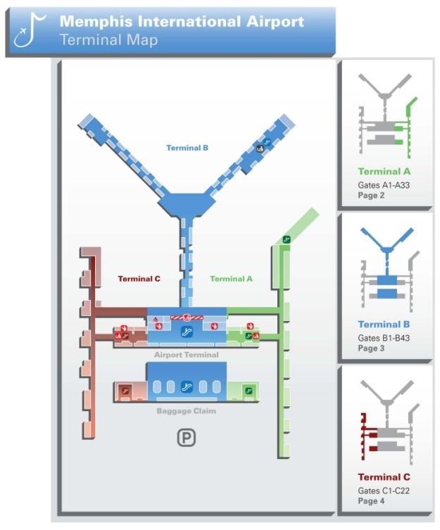 MEM Airport Map (MEM)