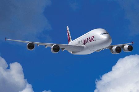 Qatar A380-800 (06)(Flt)(Airbus)(LRW)