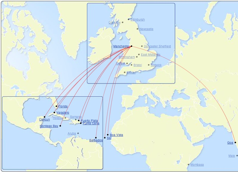 Thomson 5:2013 MAN Long Haul Routes