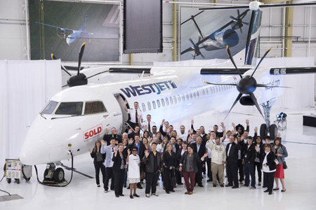WestJet DHC-8-400 C-FOEN (95)(Ceremony)(Bombardier)(LRW)