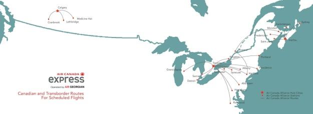 Air Canada Express-Air Georgian 7:2013 Route Map