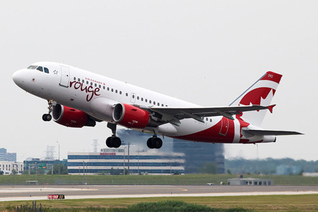 AIR CANADA ROUGE - Air Canada rouge's Inaugural Flights Takeoff