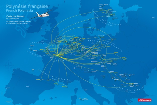 Air Tahiti 7:2013 Route Map