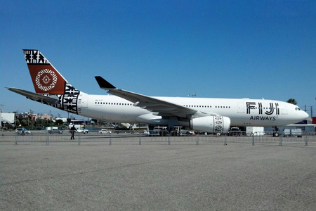 Fiji Airways (2nd) A330-200 DQ-FJT (13)(Grd) LAX (Pete Morejon)(LRW)