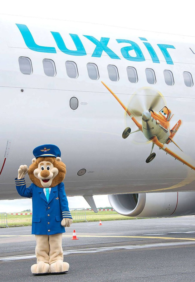 Luxair-Luxembourg Airlines 737-800 WL LX-LGU (07-Disney Planes)(Lion Pilot) LUX (Luxair)(LRW)