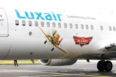 Luxair-Luxembourg Airlines 737-800 WL LX-LGU (07-Disney Planes)(Logo) LUX (Luxair)(LRW)