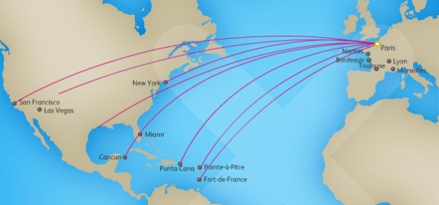 XL Airways France 7:2013 CDG Routes