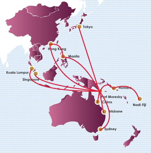 Air Niugini 8:2013 International Route Map