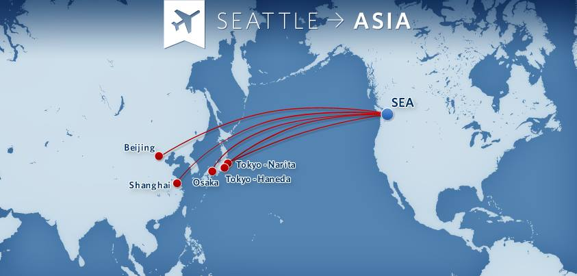 Delta To Launch New Service From SeattleTacoma To Both Seoul And - Delta route maps