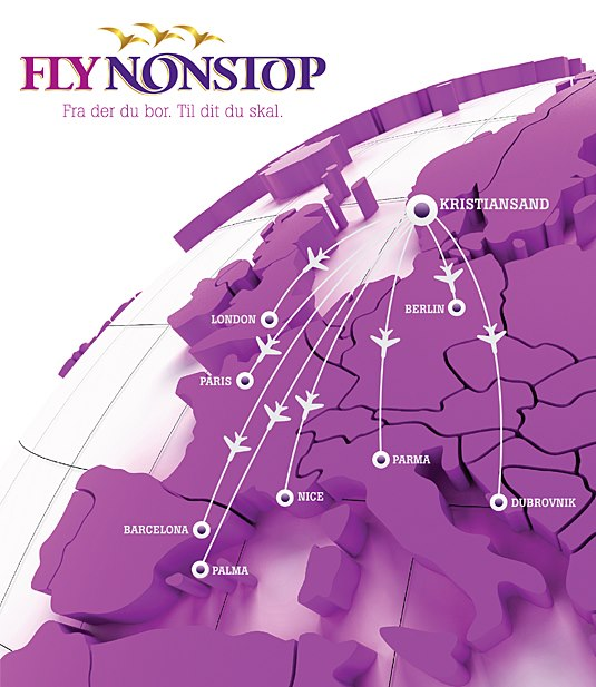 FlyNonstop 8:2013 Route Map