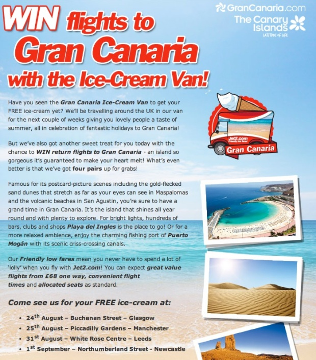 Jet2 Gran Canaria Ad
