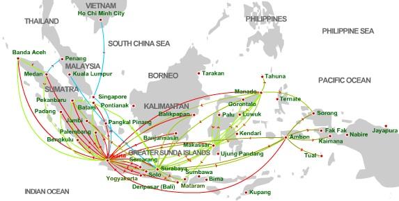 Lion Air 8:2013 Route Map