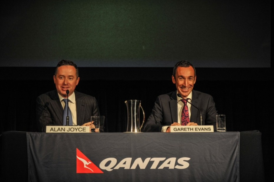 QANTAS Alan Joyce and Gareth Evans