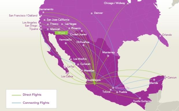 Volaris 8:2013 GDL Route Map