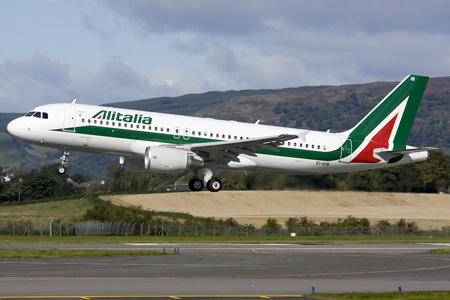 Alitalia (2nd) A320-200 EI-EIB (06)(Ldg) GLA (FS)(LRW)