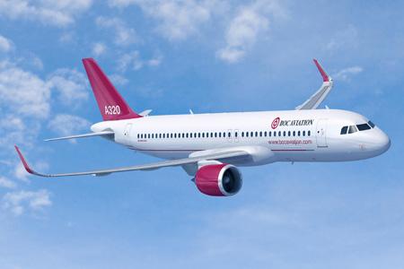 BOC Aviation A320-200 (Flt)(Airbus)(LRW)