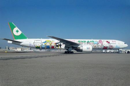 EVA Air 777-300 B-16703 (13-Hello Kitty Sanrio Family)(Grd) LAX (PMJ)(LRW)