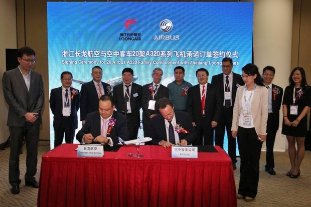 Zhejiang Loong Airlines-Airbus Signing Ceremony (Airbus)(LR)
