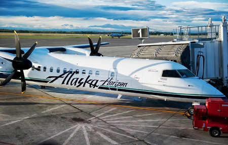 Alaska Horizon DHC-8-400 Warm Airbridge (Alaska)(LRW)
