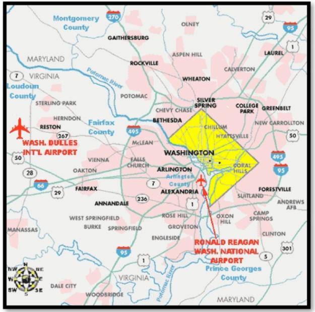DCA-IAD Regional Map